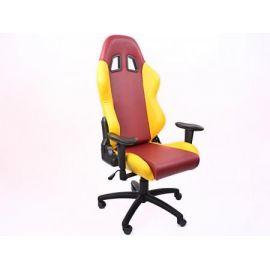 FK kancelářská židle křeslo / herní sedadlo Liverpool červeno-žluté