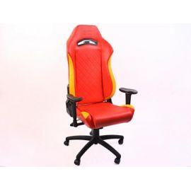 FK kancelářská židle křeslo / herní sedadlo London červeno-žluté