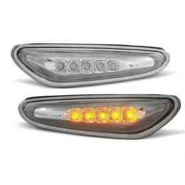 Boční blikače BMW E46 09.01-03.05 CHROM LED